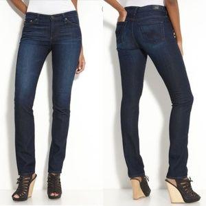 AG Jeans Premiere Skinny Straight Cut Dark Wash 28